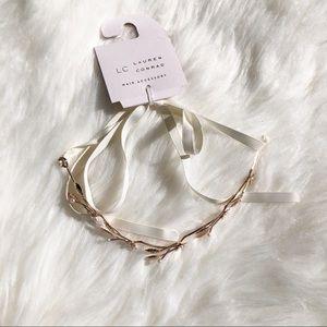 NWT LC Lauren Conrad hair accessory gold leaf
